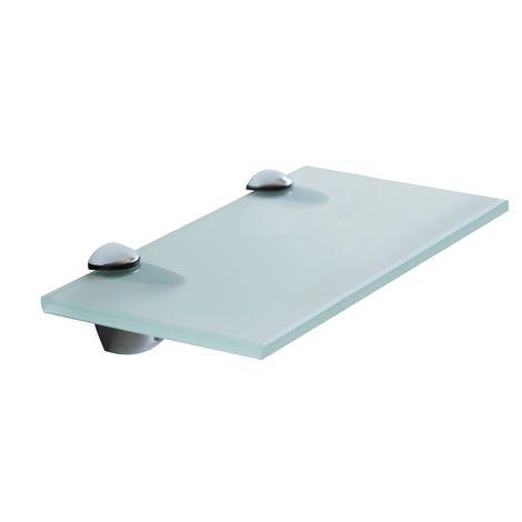 Tablette en verre 20x10CM + support Tablette de salle de bains