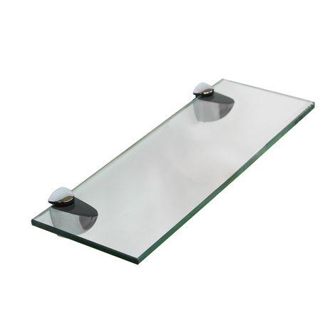 Tablette en verre 30x10CM + support bains Tablette miroir Tablette de salle de bains Support de fixation