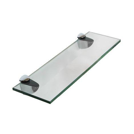 Tablette en verre 30x8CM + support Tablette de salle de bains Tablette de miroir bains Support de fixation