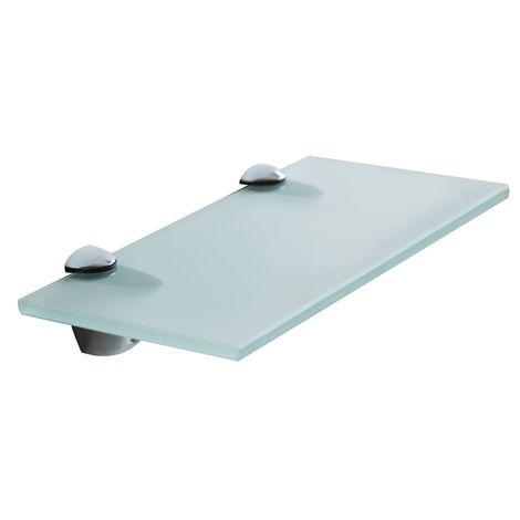 Tablette en verre 40x10CM + support Tablette de salle de bains Tablette miroir de bains Support de fixation
