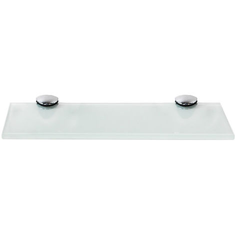 Tablette en verre + support Blanc 20x10CM Tablette de salle de bains Tablette miroir de bains Console