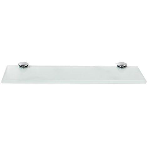 Tablette en verre Tablette murale Tablette de salle de bains Tablette 30x10CM Blanc