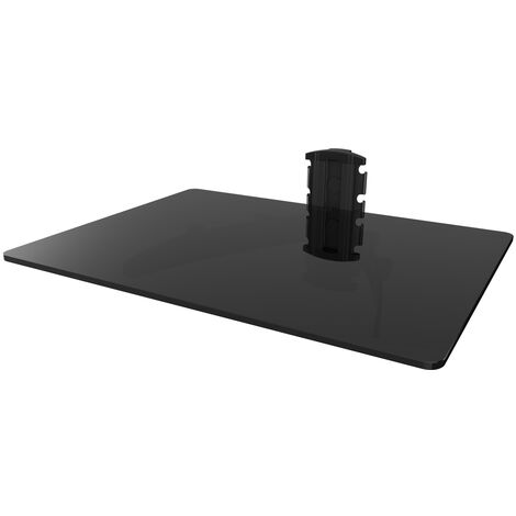 Tablette en verre trempé noir pour lecteur DVD, décodeur, récepteur, console de jeux - SEDEA - 371300