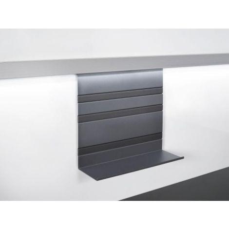 Tablette et crédence agencement cuisine grand format finition noir graphite LINERO MOSAIQ