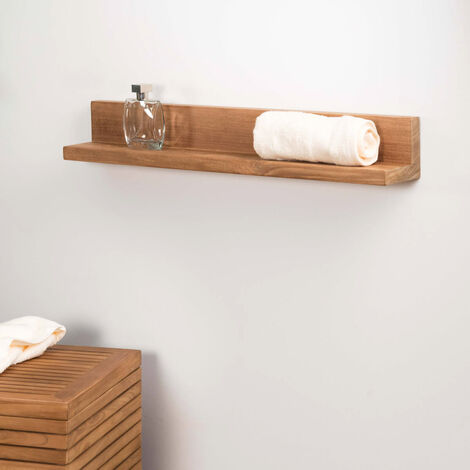 Tablette étagère Camélia salle de bain en teck massif 70cm