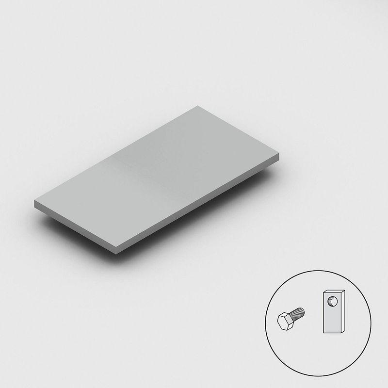 Hofe - Tablette galvanisée - largeur 1000 mm - profondeur 500 mm, pour rayonnage de base et additionnel - Coloris: Zingué