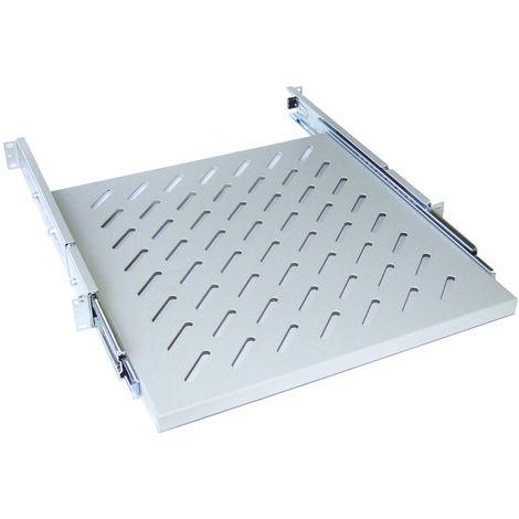 Tablette Gris 1U Ventilatée, prof. 750mm x larg. 420mm, 60kg max.