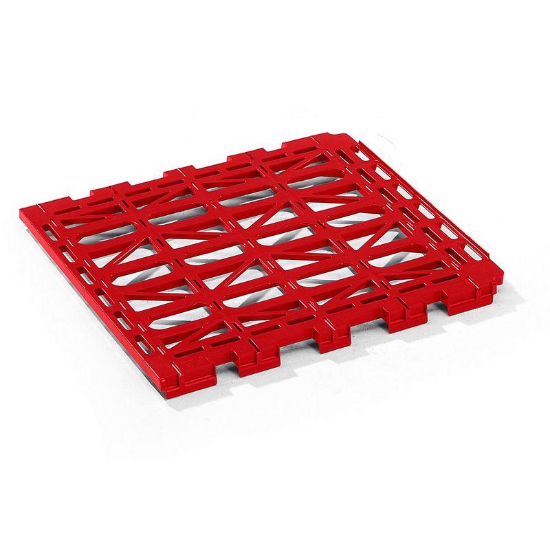 Tablette intermédiaire - en plastique - rouge - Coloris: Rouge feu RAL 3000