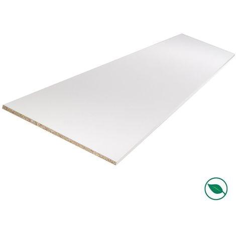 Tablette mélaminé blanc 2500 x 200 x 18 mm - PEFC 75% .