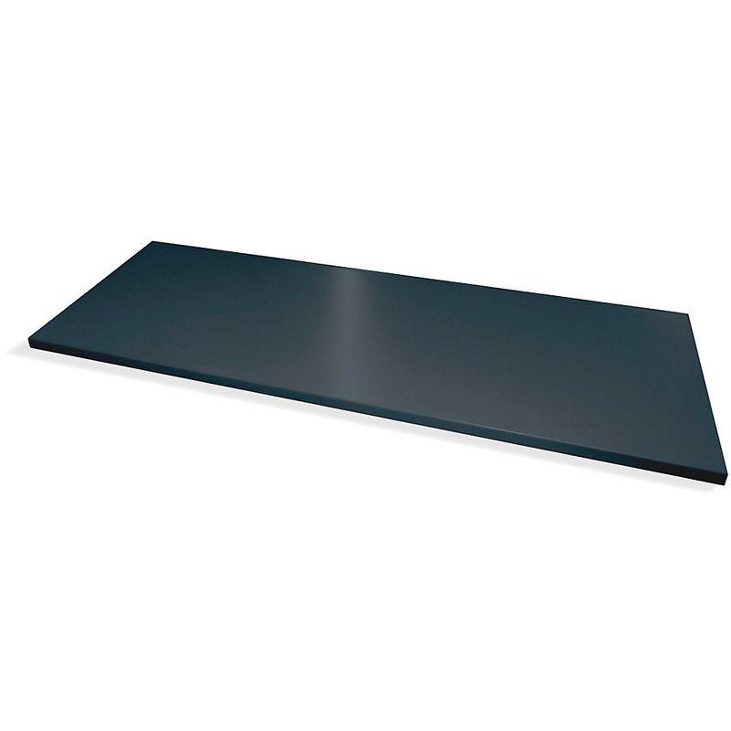 Tablette - pour armoire à portes battantes - gris noir RAL 7021, lot de 2 - Coloris: Gris noir RAL 7021