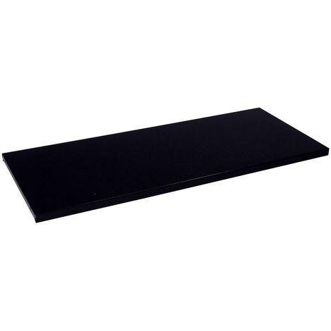 Tablette pour armoire à rideaux - gris noir RAL 7021 - pour largeur 1200 mm - Coloris: Gris noir RAL 7021