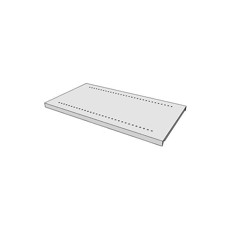 Tablette pour armoire et rayonnage combinés - gris clair RAL 7035 - l x p 930 x 500 mm - Coloris: Gris clair RAL 7035