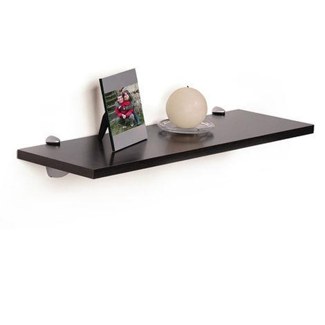 Tablette rectangulaire en bois, de style classique, finition wengé, profondeur 200 mm.
