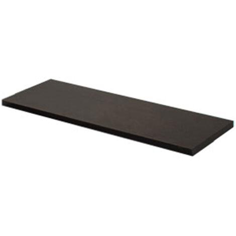 Tablette rectangulaire en bois, de style classique, finition wengé, profondeur 250 mm.