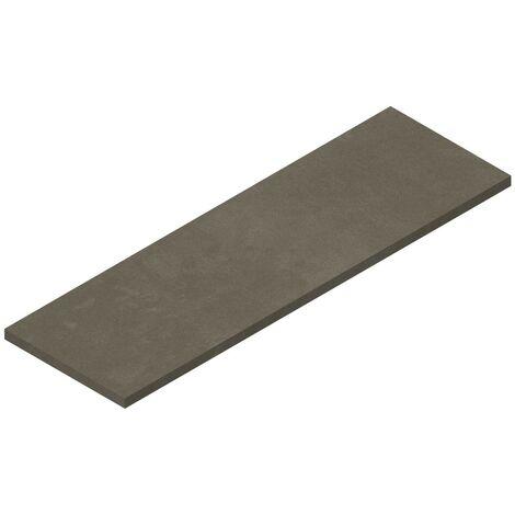 Tablette suspendue 1600 x 500 mm pour vasque à poser, finition gris béton Ponsi Teo BETEOCTOPP1604 | Ciment gris