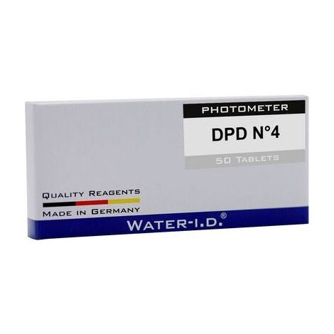 "main image of ""TABLETTES WATER ID 50 TABLETTEN DPD N°4FÜR POOLLAB TBSPD450 1 PC(S)"""