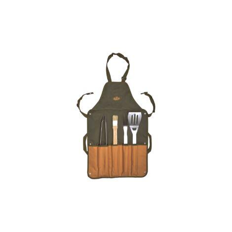 Tablier BBQ - L 2,5 x l 65 x H 87,5 cm - 4 pièces - Livraison gratuite