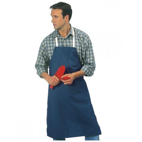 Tablier coton bleu SINGER dim 100x70 cm toile coton - bavette - tous usages