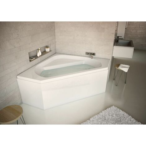 Tablier de baignoire d'angle U Novalu Wellness
