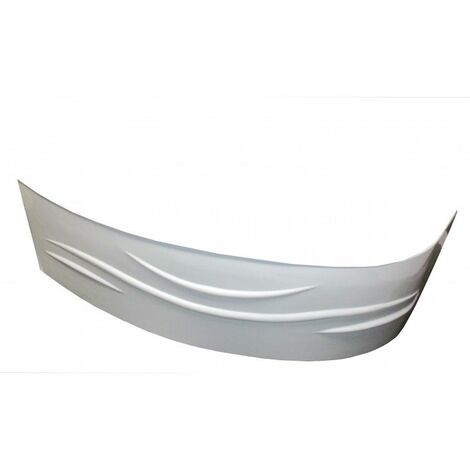 Tablier de baignoire Gauche FANY - Tablier motif vague 160x90cm - ABS - Blanc