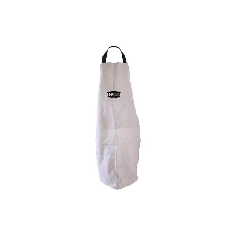 Tablier de debroussaillage PRO en cuir croute en sangles textile - PROTAB - Solidur - Gris - - taille: