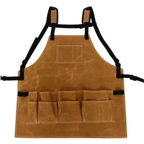 Tablier en toile impermeable de cire humide 814626 Toile de cire humide impermeable d'electricien resistant a l'usure