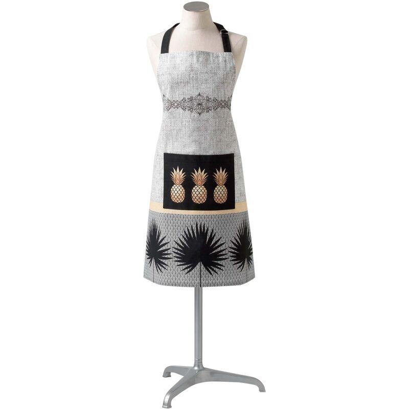 Douceur D'intérieur - Tablier +poche 70 x 85 cm coton imprime anagold Noir