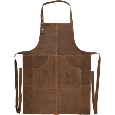 Tablier pour barbecue en cuir - l 59,5 cm x H 104,5 cm - Livraison gratuite