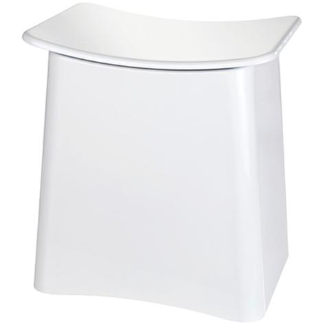 Tabouret avec sac à linge amovible - Dim : L46 x H 50 x P 33 cm -PEGANE-