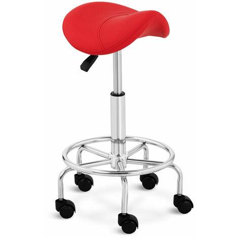 Tabouret chaise siège selle de cheval 150 kg max rouge - Rouge