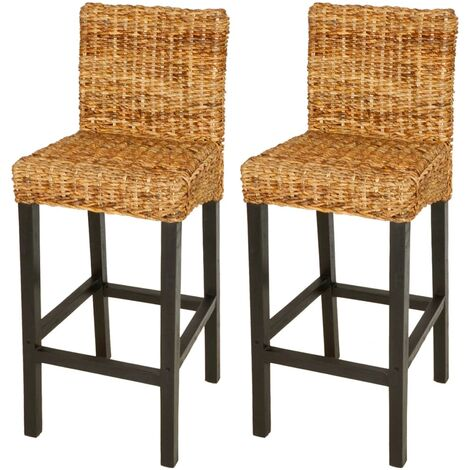 Tabouret de bar 2 pcs Abaca Marron