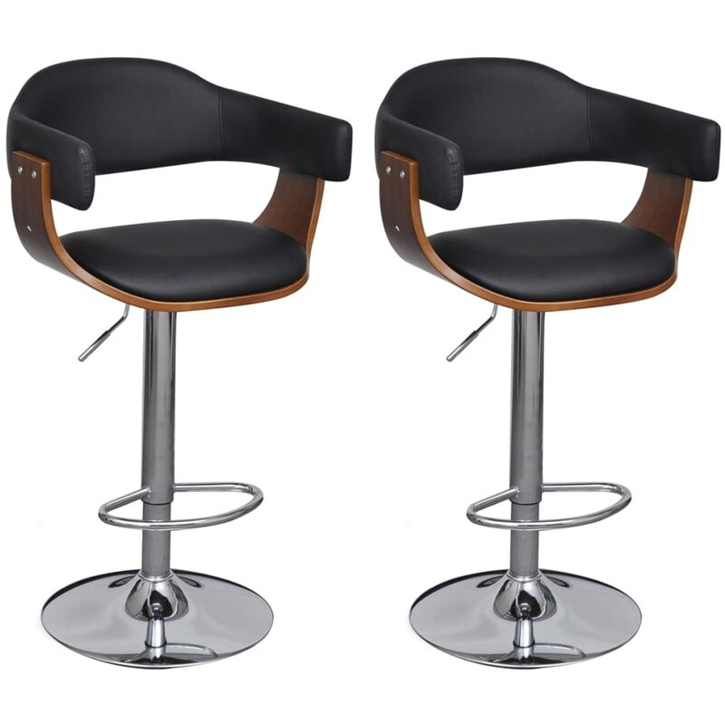Tabouret De Bar Reglable En Hauteur.Tabouret De Bar 2 Pcs Cuir Synthetique Hauteur Reglable