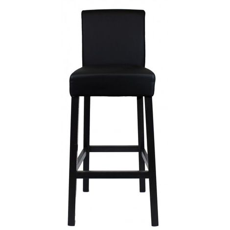 Tabouret de bar - assise couleur noire - collection LOUNGE