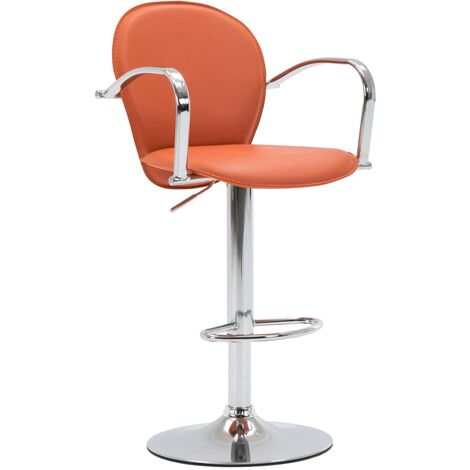 Tabouret de bar avec accoudoir Orange Similicuir
