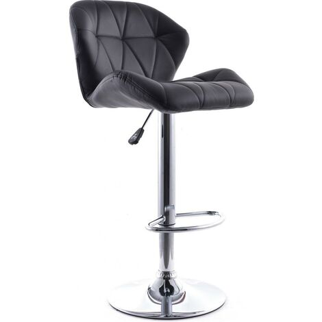Tabouret de Bar Backrest Pivotant Noir