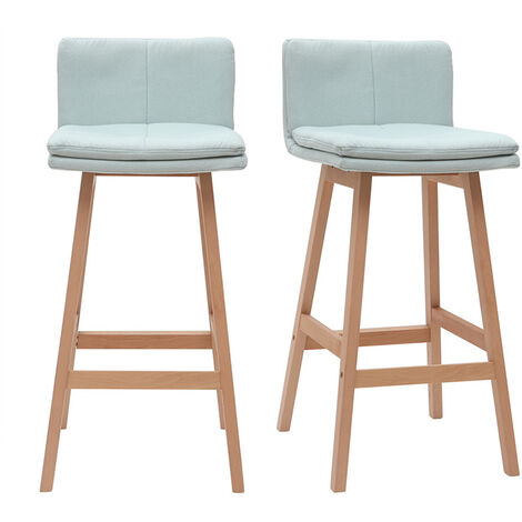 Tabouret de bar bois 65 cm (lot de 2) JOAN