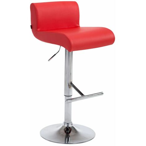 Tabouret de bar California rouge