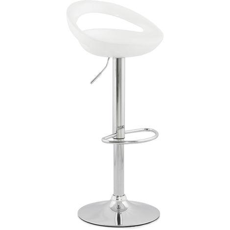 Tabouret de bar coloris Blanc - 45 x 46 x 99 cm - USAGE PROFESSIONNEL -PEGANE-