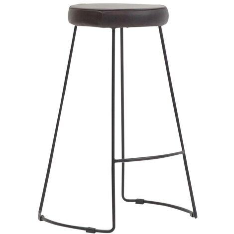 Tabouret de bar cuir assise ronde
