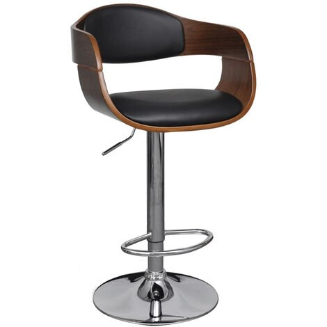 Tabouret De Bar Cuir Synthetique Hauteur Reglable