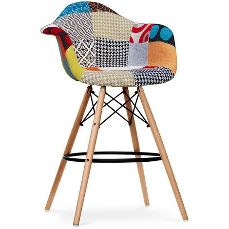 Tabouret de bar Dawick - Patchwork Patty Multicolore