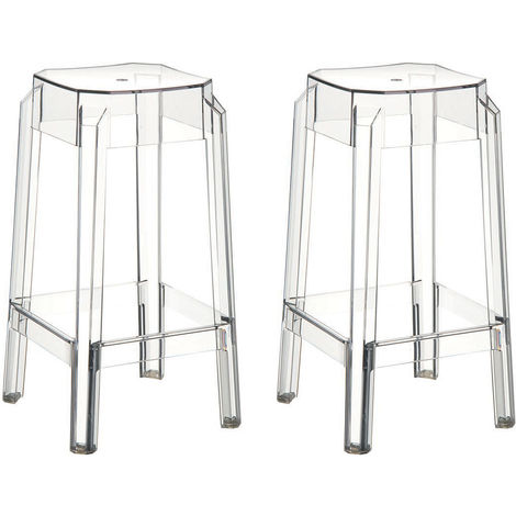 Tabouret de bar design 65cm (lot de 2) CLEAR
