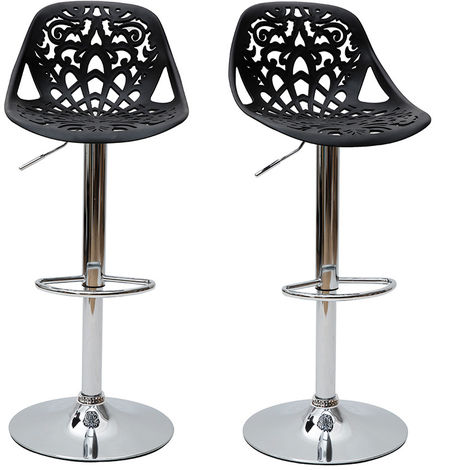 Tabouret de bar design baroque lot de 2 BAROCCA