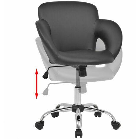 Tabouret de bar design chaise siège artificiel noir - Noir