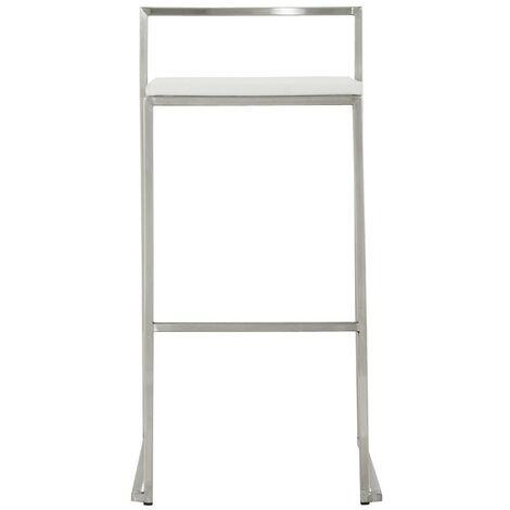 Tabouret de bar design Haut METO Blanc