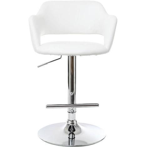 Tabouret de bar design JESSY - Blanc