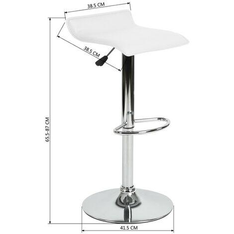 Tabouret de bar Design ( Noir / Blanc / Gris) vendu par 2 - Blanc