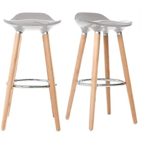 Tabouret de bar design scandinave lot de 2 GILDA