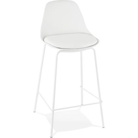 Tabouret de bar en plastique Blanc - 41,5 x 42 x 86,5 cm - USAGE PROFESSIONNEL -PEGANE