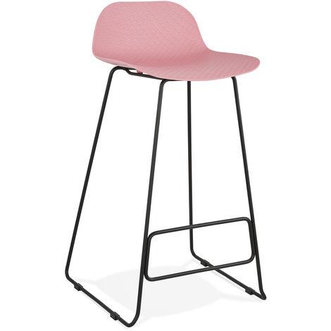 Tabouret de bar en plastique Rose/Noir - 50,5 x 53 x 95 cm - USAGE PROFESSIONNEL -PEGANE